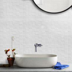 White Square Gloss Ceramic Tile