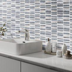 Blue Sandstone Kit Kat Mosaic Bathroom Tile