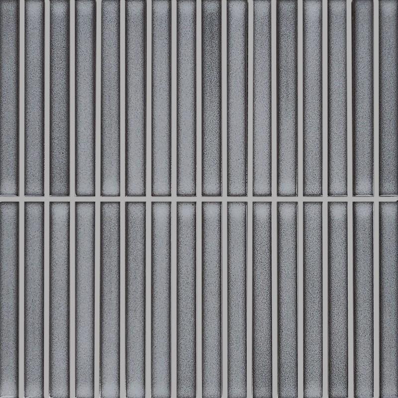 Japanese Inspired Grey Finger-Kit Kat Porcelain Mosaic Tile sample