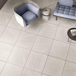 White Porcelain Tile Flooring