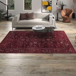 Tavarnelle Burgundy Flooring Rug