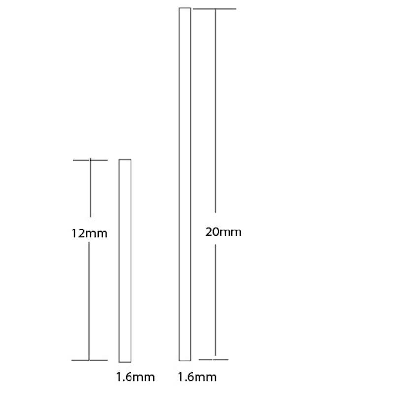 Aluminium Flat Bar 12x1.6mm sample